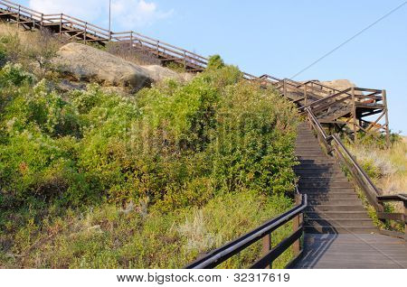 boardwalk trail on Pompeys Pillar National Monument
