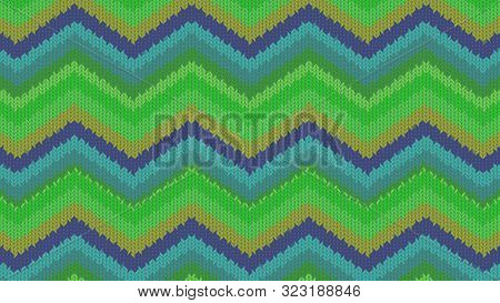 Background With A Knitted Texture, Imitation Of Wool. Multicolored Diverse Lines.