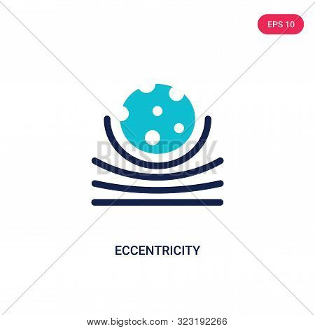 eccentricity icon in two color design style.
