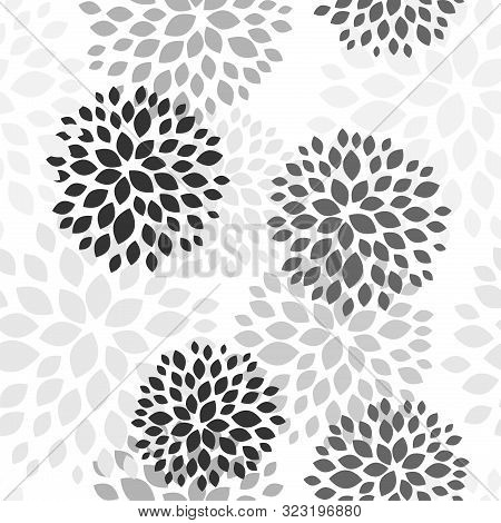 Spring Floral Background. Vector Design Illustration. Abstract Flowers Seamless Pattern On Colorful
