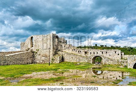 Ruins Of Berat Castle. Unesco World Heritage In Albania