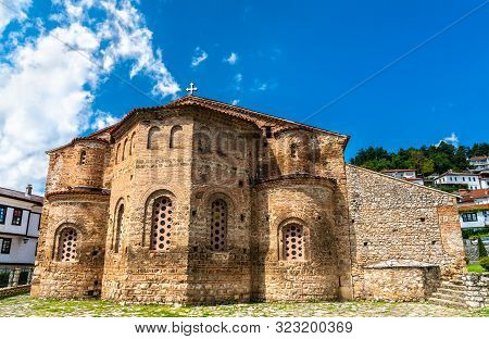 The Church of St. Sophia in Ohrid, North Macedonia poster