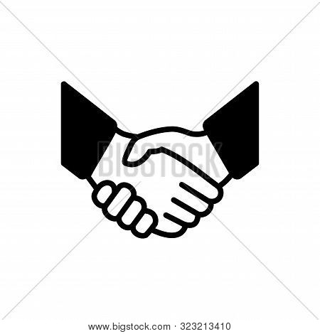 Handshake Icon Simple Vector Illustration. Deal Or Partner Agreement Symbol. Handshake Sign. Hands M