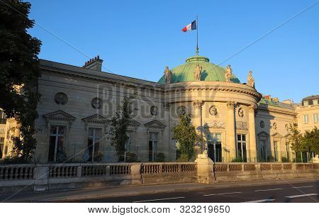 Paris, France-september 15, 2019 :the Head Office Of The Grand Chancellery Of The Legion Of Honor Is