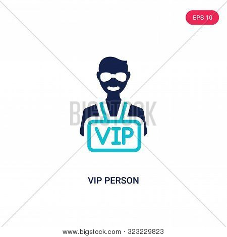 Vip Person Icon In Two Color Design Style. Vip Person Vector Icon Modern And Trendy Flat Symbol For