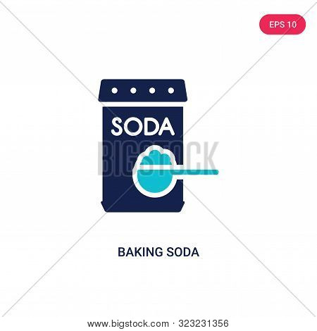 baking soda icon in two color design style.