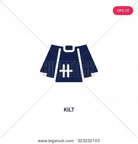 kilt icon in two color design style.