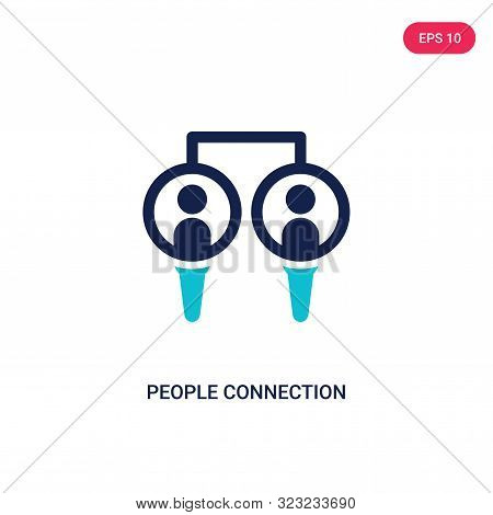 People Connection Icon In Two Color Design Style. People Connection Vector Icon Modern And Trendy Fl