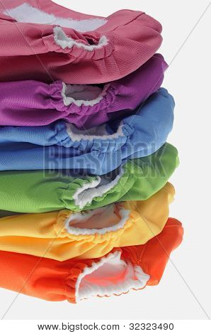 Stack Of Eco Friendly Cloth Diapers