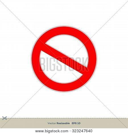 Forbid Sign Vector Logo Template Illustration Design. Vector Eps 10.