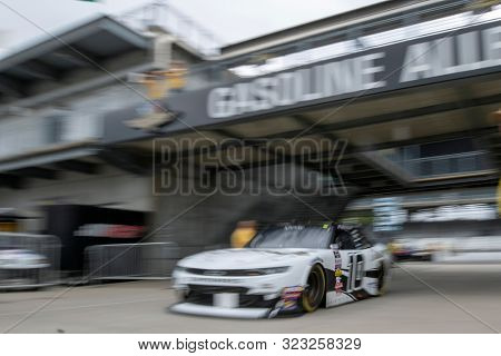 September 06, 2019 - Indianapolis, Indiana, USA: Austin Dillon (10)  takes to the track to practice for the Indiana 250 at Indianapolis Motor Speedway in Indianapolis, Indiana.
