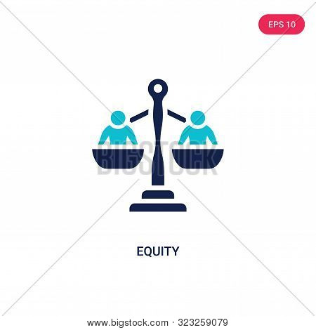 equity icon in two color design style.