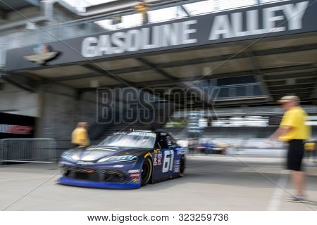 September 06, 2019 - Indianapolis, Indiana, USA: Chad Finchum (55)  takes to the track to practice for the Indiana 250 at Indianapolis Motor Speedway in Indianapolis, Indiana.