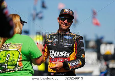 August 30, 2019 - Darlington, South Carolina, USA: Clint Bowyer (14) gets ready to practice for the Bojangles' Southern 500 at Darlington Raceway in Darlington, South Carolina.