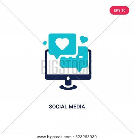 social media icon in two color design style.