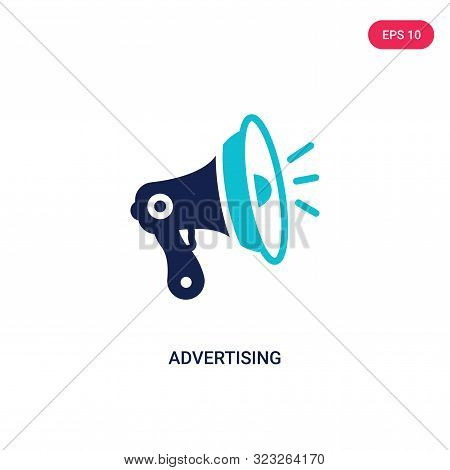 advertising icon in two color design style.