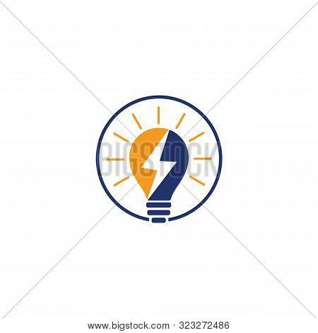 Electricity Logo, Electric Bulb Logo And Icon Vector Design Template. Bulb Creative Concept Logo Des