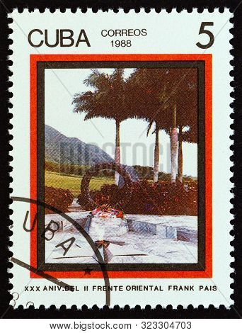 Cuba - Circa 1988: A Stamp Printed In Cuba Issued For The 30th Anniversary Of The Frank Pais Second
