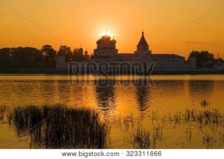 The Old Ipatievsky Monastery Against The Background Of The September Sunset. Kostroma, Golden Ring O