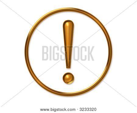 Golden Exclamatory
