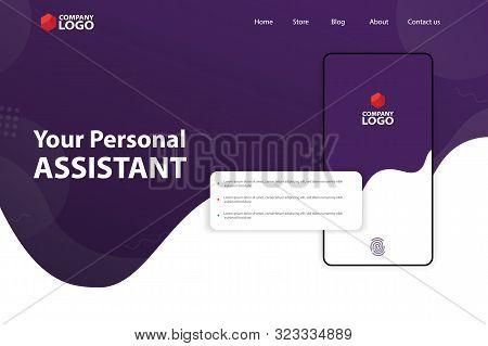 Mobile App Landing Page Vector Template Design