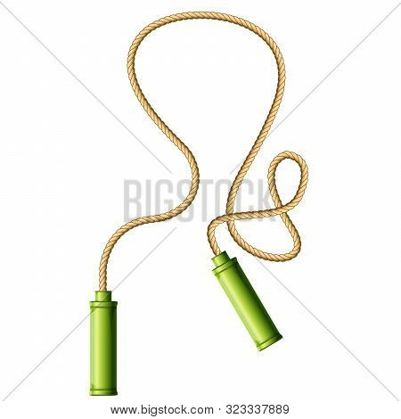 Skipping Rope Or Jump-rope Isolated On White