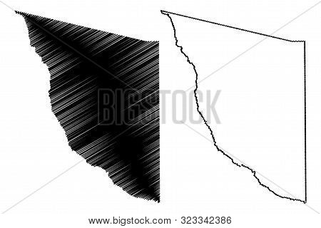 Presidio County, Texas (counties In Texas, United States Of America,usa, U.s., Us) Map Vector Illust