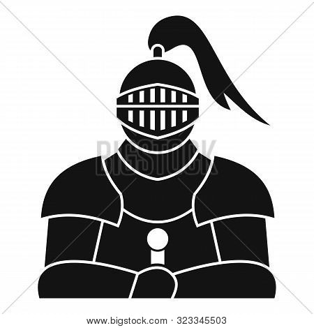 Medieval Knight Icon. Simple Illustration Of Medieval Knight Vector Icon For Web Design Isolated On