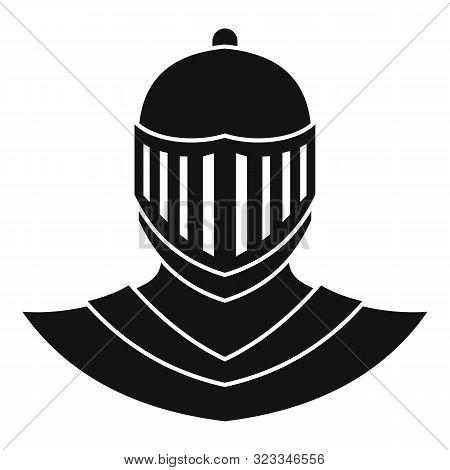 Knight Helmet Avatar Icon. Simple Illustration Of Knight Helmet Avatar Vector Icon For Web Design Is