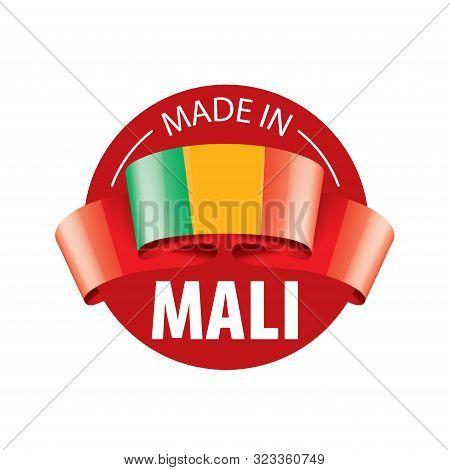 Mali Flag, Vector Illustration On A White Background.