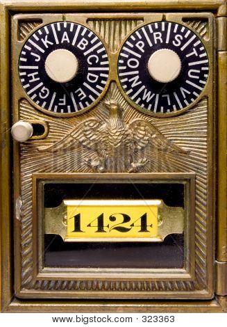 Old Fashioned Antique Lock Box