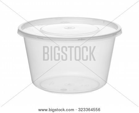 Plastic Bowl Disposable Cup (with Clipping Path) Isolated On White Background
