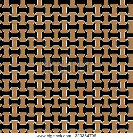 Chain Grid Gold Pattern Texture Seamless Vector