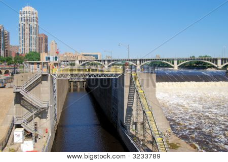 Lock And Dam On The Mississippi River