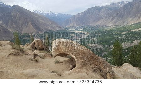 Eagle Shape Rock On The Hunza View Point, At Eagle's Nest,