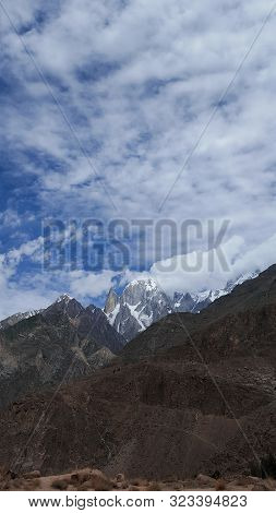 Lady Finger Mountain Peak In Hunza Valley, Gilgit Baltitstan, Pakistan