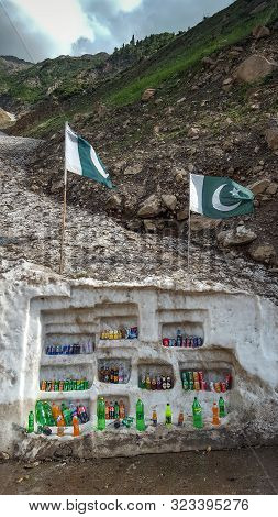 Drink Shop, Using Glaier To Keep The Drink Cold, In Naran Valley, Kaghan, Kpk, Pakistan 20/08/2019
