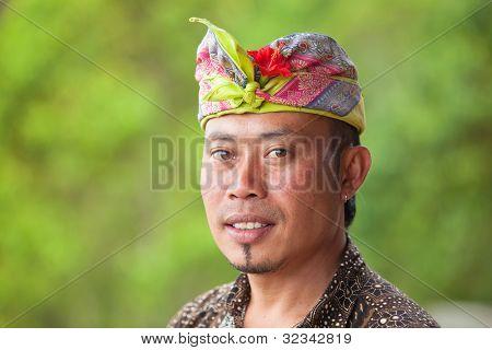 Balinesische Mann