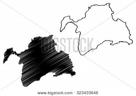 Gorno-badakhshan Autonomous Region (republic Of Tajikistan, Regions Of Tajikistan) Map Vector Illust