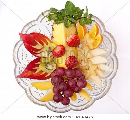 Dish With Fruits And Berries