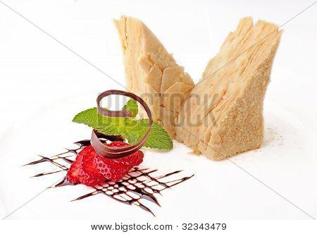 Cake Napoleon With Strawberry
