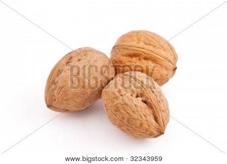 Walnuts On White Fone