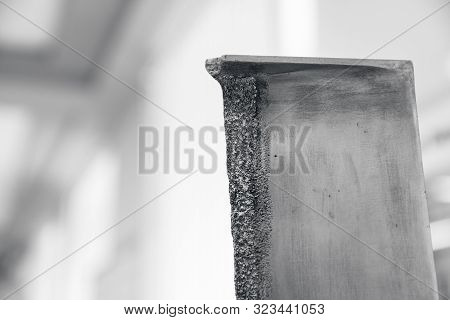 Turbine blade is susceptible to corrosion. Erosion of metal damage and destruction of drop water cavitation under high pressure poster