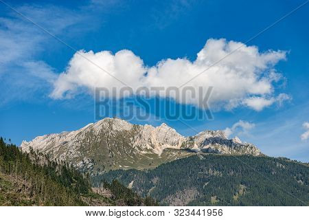 Mountain Range Of The Latemar (2846 M), Italian Alps, Dolomites, Unesco World Heritage Site, Photogr