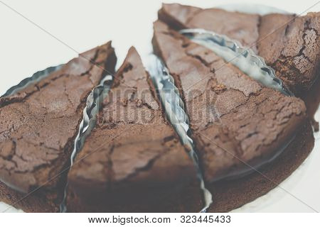 Chocolate Brownie (brownie) Is Dessert A Square, Baked, Chocolate Dessert For Sale In Sweet Dessert