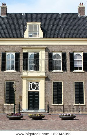 A historic house (drost house) from 1774 at the Drents Museum in Assen (Netherlands) poster