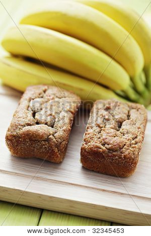 delicious banana breads with fresh fruits - sweet food /shallow DOFF/ poster