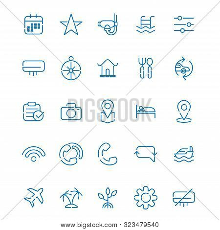 Travel. Travel icon. Holiday icon. travel vector. travel icon vector. travel logo. travel symbol. Simple travel icons set. Travel and vacation icon set. Travel, flight, accommodation, destination booking and more, thin line icons set, vector illustration.