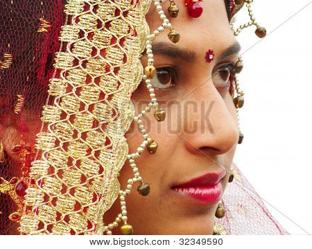 Face of beautiful bride