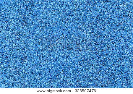 Background Of Millet Scattered On The Surface. Image Inversion, Blue Color